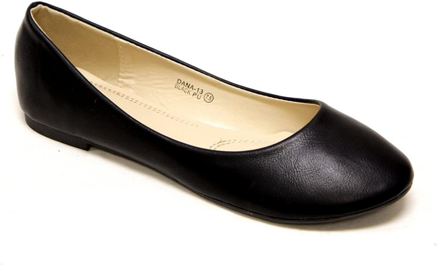 Bella Marie Women's Comfortable Classical Ballerina Flats Round Toe Slip On shoes