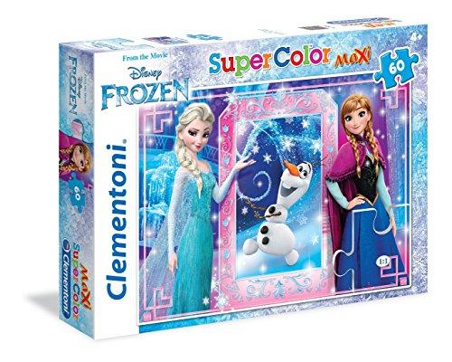 Clementoni- Frozen Supercolor Puzzle Maxi, 60 Pezzi, 26411