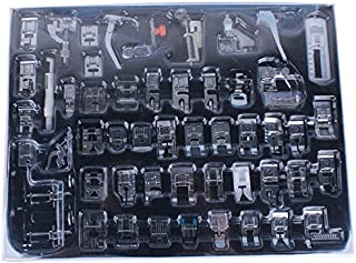 eoocvt Professional Domestic 52pcs Sewing Machine Presser Feet Set for Brother, Babylock, Singer, Janome, Elna, Toyota, New Home, Simplicity, Necchi, Kenmore, and White Low Shank Sewing Machines