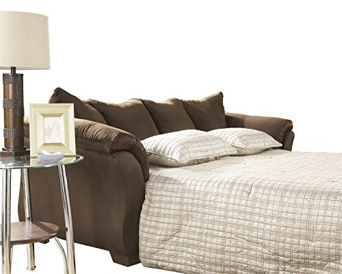 Signature Design by Ashley - Darcy Full Size Ultra Soft Upholstery Sleeper Sofa, Café Brown