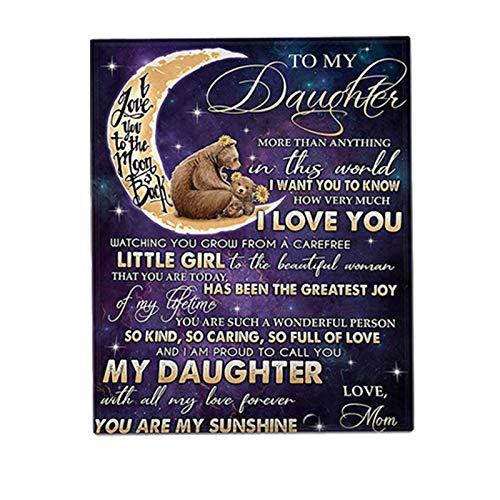 Neueste Fleece-Decke für meine Tochter | Personalisierte benutzerdefinierte Premium-Soft-Air-Mail-Decke Quilts von Papas & Mamas Liebe, Decken-Geschenke für Tochter Weihnachten Geburtstag Halloween