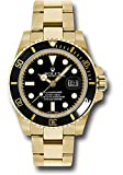 Rolex Oyster Perpetual 40MM 18K Yellow Gold Submariner Date with a Black Cerachrom Rotatable Bezel and a Black Index Dial.