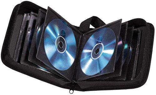 Hama CD Tasche für 32 Discs / CD / DVD / Blu-ray (Mappe zur Aufbewahrung , platzsparend für Auto und Zuhause, Transport-Hüllen) Schwarz