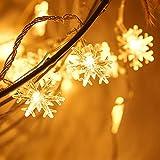 Zorara Cadena de Luces - Guirnalda Luces 7.5M 50 LED - Guirnalda Luces Pilas Estrella - Decoración Interior, Jardines, Casas, Boda, Fiesta de Navidad [Clase de eficiencia energética A+++] (7.5m)