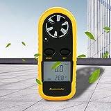 Medidor de velocidad del viento Anemómetro digital Pantalla LCD para exteriores en interiores para probar la velocidad del flujo del viento Sensación térmica
