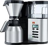 Melitta 1012-06 AromaElegance DeLuxe Filter-Kaffeemaschine, Schwarz/Edelstahl