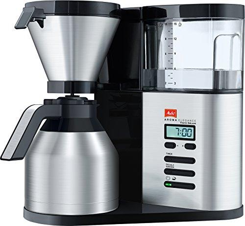 Melitta 1012-06 AromaElegance Therm DeLuxe Filter-Kaffeemaschine, Schwarz/Edelstahl