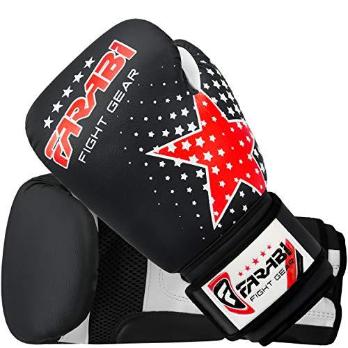 Farabi Junior Starlux Handschuh Serie für die Jugend - für Kinderboxen, gemischte Kampfkünste MMA Muay Thai Kickboxen Abbildung 2