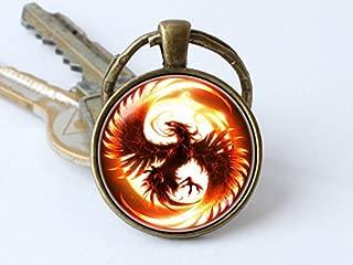 Phoenix Keychain, Phoenix Keyring Phoenix Gift, Fantasy Key Chain Phoenix Pendant, Phoenix Bird Fire Keyring, Bird Keychain Phoenix Jewelry