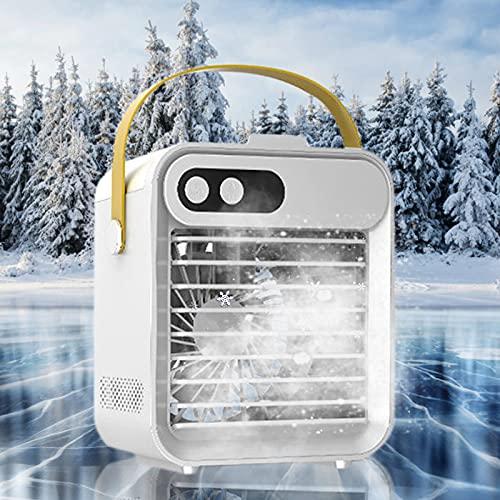 HAOXIU Condizionatore portatile 3 in 1 USB Desktop Silenzioso Air Cooler, umidificatore e purificatore d'aria con 3 livelli di velocità per la casa dell'auto