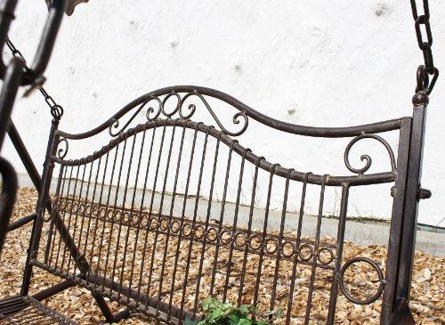 DanDiBo Hollywoodschaukel Metall Antik 2 Sitzer Gartenschaukel 082505 Schaukel Garten Schmiedeeisen - 6