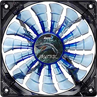 Aerocool Shark 12cm Quad LED 15 Blade Fluid Dynamic Bearing Fan - Blue (B00432T2JQ) | Amazon price tracker / tracking, Amazon price history charts, Amazon price watches, Amazon price drop alerts