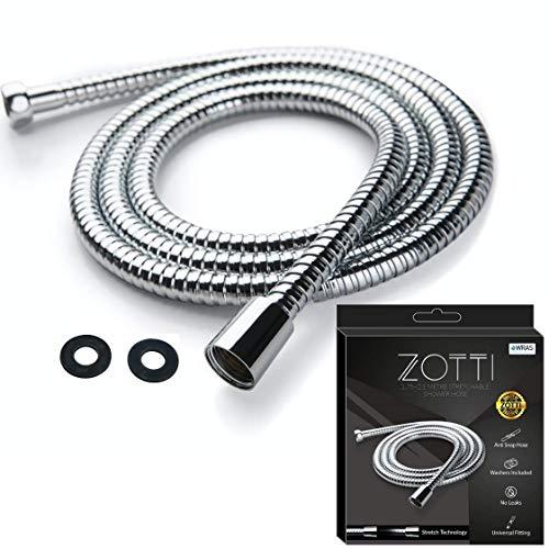 Tubo doccia estensibile ZOTTI da 1,75 ma 2,1 m - Tubo doccia di ricambio durevole in acciaio inossidabile - A tenuta stagna, nessuna rottura - Raccordo standard universale
