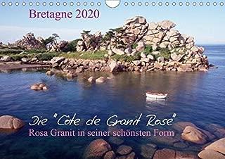 Bretagne, die Côte de Granit Rose, rosa Granit in seiner schönsten Form.CH-Version (Wandkalender 2020 DIN A4 quer): Die Côte de Granit Rose hat viele ... inspiriert. (Monatskalender, 14 Seiten )