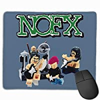 Nofx Band ノーエフエックス ウスパッド ゲーミング 滑り止め 超低摩擦 標準サイズ レーザー ほつれ防止 光学マウス対応 精密度up 滑り安定 快適 コントロール 自由自在 低dpiで高精確 オフィス ゲーム用 ゲームマウスパッド マット ゴムベース 25*30cm