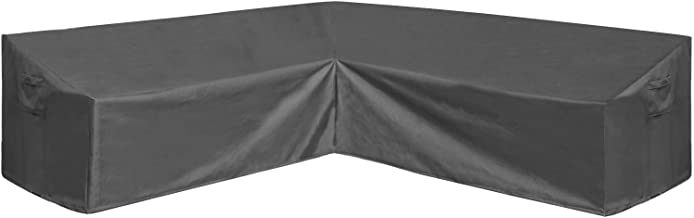AKEfit Patio Furniture Cover Outdoor V-Shaped Sectional Sofa Cover Premium Waterproof Fabric Garden Couch Protector Grey 1...