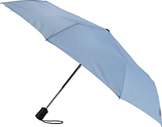 Travel Umbrella: Windproof & Water Repellent with Mildew Resistant Fabric, Automatic Open Close & 1 Year Warranty. - Blue