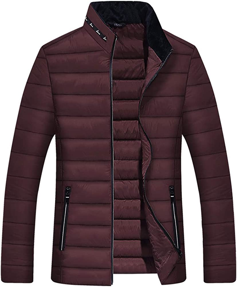 Arlita Men's Winter Thickened Puffer Jacket Cotton Quilted Coat Outerwear