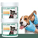 QUTOP 300 Count Cat and Dog Ear Cleaner Wipes, Natural...