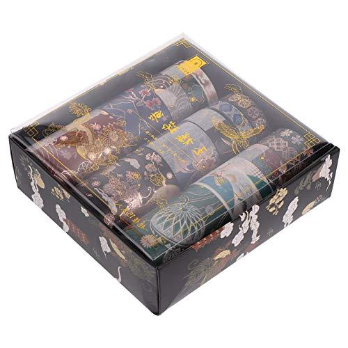 EXCEART 15Pcs Vintage Masking Tape Japanischen Chinesischen Antiken Rustikalen Washi Band DIY Scrapbooking Handwerk Journal Geschenk Verpackung Dekorative Band Planer Zubehör