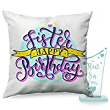 Birthday cushion set. Best birthday gift. Made with high quality materials. Non Toxic | Easy to Wash | Easy to Handle Great birthday gift for your loved ones and family. 12 x 12 inch cushion and filler included.