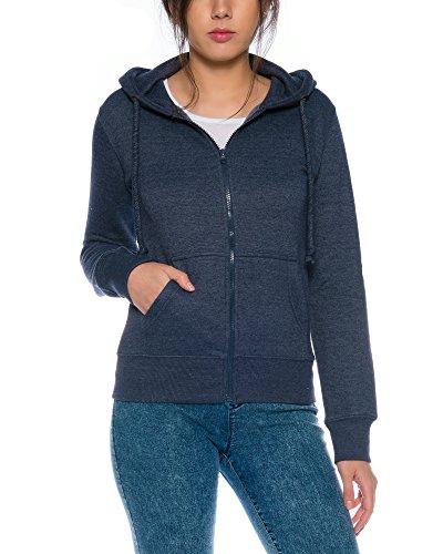 Crazy Age Cooler Zip Hoodie Kapuzenjacke Sweatjacke aus hochwertigen Baumwollmischung (Navy, M=36)