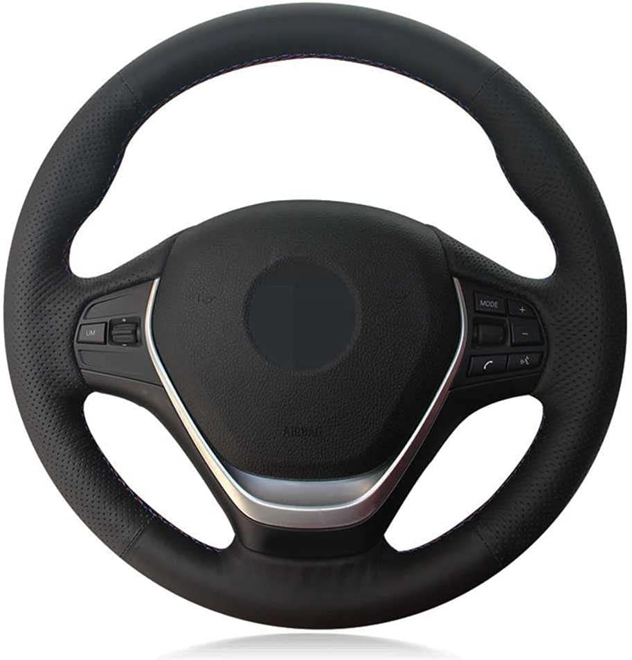 NIUASH Black Leather Car Steering Wheel BMW Cover Fit Special price 32 F30 for Very popular