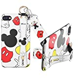SUNTONIO Case for iPhone 7/8/SE 2020,Mickey Fashion Wrist Strap Band Protector Phone Cover Full-Body Bumper Lanyard (7/8/SE 2020)