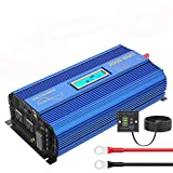 VOLTWORKS Pure Sine Wave 2000Watt Power Inverter DC 24V to 120V AC Converter with Remote Control LCD Display and 1 AC Terminal Block 2 AC Outlets 2x2.4A USB Ports for Car RV Truck Boat(24VBlue)