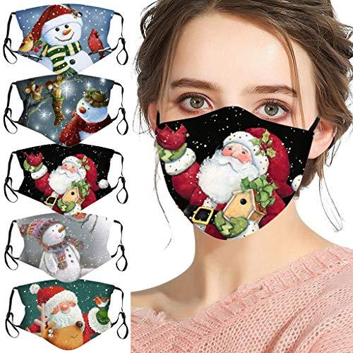 5PC Fashion Christmas Printing Atmungsaktiver Schutz Wiederverwendung