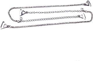 Boogaa Rhinestone Bra Straps Crystal Bra Straps Adjustable Removable Fancy Bra Strap Replacement for Bra Tops Dress (Silver)