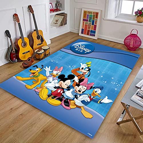 XuJinzisa Alfombra De Mickey Minnie Mouse, Alfombra con Estampado 3D De Franela, Alfombra Súper Suave para Sala De Estar, Alfombra para Habitación De Niños, 140X200Cm N1438