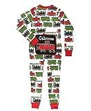 LazyOne Flapjack, Matching One-Piece Pajamas with Drop Seat, Kids, Locomotive, Caboose (Trains, 6)