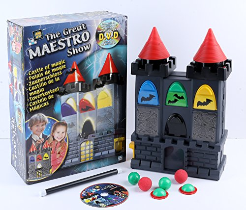 Amav Toys The Great Maestro Show - Royal Castle of Magic - Ideal Present for Buiggining & Advanced Young Magicians for Christmas - Comes with Instructions & Explanations DVD