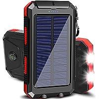 Tainbat 20000mAh Portable Waterproof Solar Power Bank (Red)