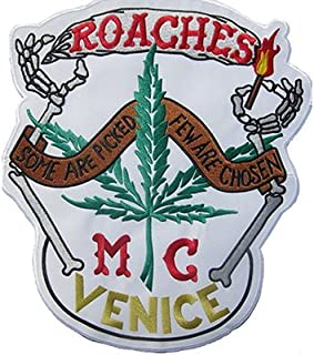 ROACHES MC VENICE cheech & chong Joint Bones Venice Iron on Badge Backpatch