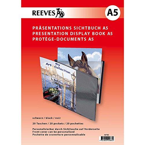 Reeves A5 mit 20 klaren Sichthüllen zum Personalisieren von Präsentationen und Büchern Sichtbuch, Kunststoff, Nicht Zutreffend, 10.4x21x1.5 cm