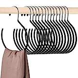 Cedilis 15 Pack Scarf Ring Hangers, Non-Snag Belt Hanger for Closet, Non-Slip Closet Organizer Accessory Holders for Ties Scarves Belts Tank Tops Pashminas, Black