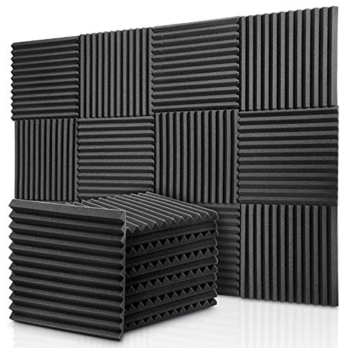 Donner Paneles de Espuma Acústica 12 Piezas, Paneles Acústicos para...