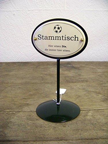 Unbekannt Emaille Tischständer Stammtisch Fußball