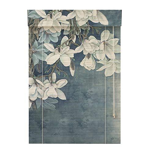 YILANJUN Natural Estores de Bambú,Artesanía Ingeniosa,Sombra,Cortina Persiana Enrollables,Elevable,Alta Practicidad y Decoración (24 Patrones,Personalizables)
