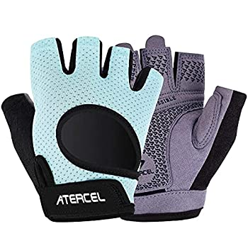 Atercel Weight Lifting Gloves 2021 Upraded Full Palm Protection Best Workout Gloves for Gym Cycling Exercise Breathable Super Lightweight for Mens and Women Aqua S