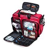 JTYX Kit De Primeros Auxilios Compacto Kit De Supervivencia para Trauma De Emergencia con Compartimentos Etiquetados, Kit De Rescate De Emergencia Impermeable Al Aire Libre De Gran Capacidad