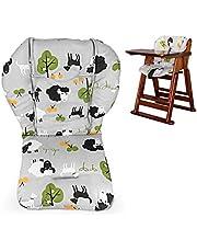 Barnstolskudde, stor förtjockning baby barnstol sittdyna foder matta dyna överdrag andas (grått får)