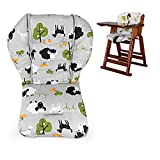Twoworld High Chair Cushion, Large Thickening Baby High Chair Seat Cushion Liner Mat Pad Cover Breathable(Grey Sheep)