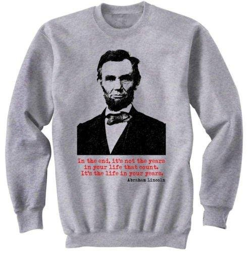 Abraham Lincoln American President – New Graphic Sweat de Camiseta s Gris Gris