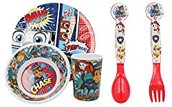 MEALS ARE FUN WITH FAVOURITE CARTOONS: Our dining sets have kid's favourite cartoon characters printed on them which makes meals fascinating and fun. Cute cartoon prints can encourage your little ones more to eat on their own. COMPREHENSIVE SET FOR A...