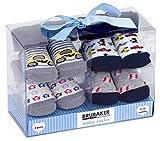 BRUBAKER 4 paia di calze neonato da 0-12 mesi - calzini maschili design automobilistico