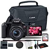Canon EOS Rebel SL3 DSLR Camera with 18-55mm Lens (Black) + Canon EOS Bag + Sandisk Ultra 64GB Card + Cleaning Set and More