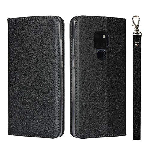 The Grafu Huawei Mate 20 Hülle, Stoßfest Klapphülle mit Kartenfach und Standfunktion, PU Leder Schutzhülle Tasche Kompatibel mit Huawei Mate 20, Schwarz